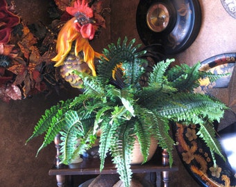 High Quality Faux Large Boston Fern