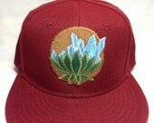 Crystalline Lotus - patchwork fitted hat 7 1/8