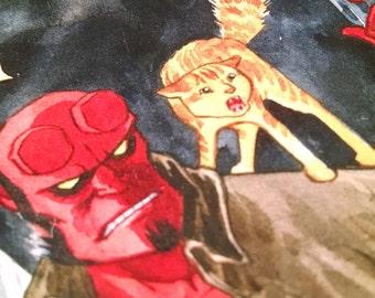 Handmade Hellboy Blank Journal/Sketchbook - M045