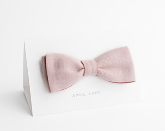 Light pink bow tie - double sided