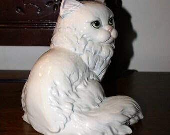 VINTAGE GOEBEL CAT Figurine, Large, White, Persian Cat, Germany