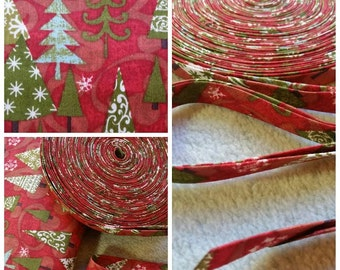 "Christmas, Holiday Printed 1/2"" Double Fold Bias Tape, 1"" Single fold Bias Binding Tape 3 Yards,6 Yards"