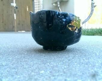 Raku Tea Bowl: Black