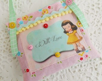 Cute Retro Inspired Mother's Day Lavender Sachet/Door Hanger