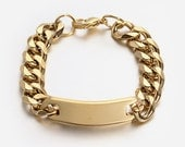 Gold Stainless Steel Chain Bracelet