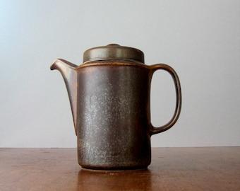 "Vintage Arabia ""Ruska"" Coffee Pot - Scandinavian Modern"
