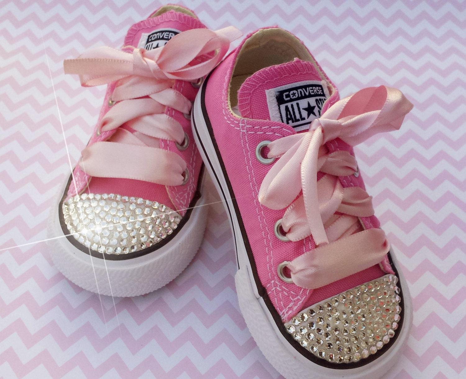 Bedazzled Converse Baby Shoes