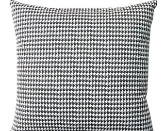 SALE Decorative Throw Pillows- Premier Prints Black White Houndstooth Pillow Cover- All Sizes- Hidden Zipper Closure- Cushion Cover