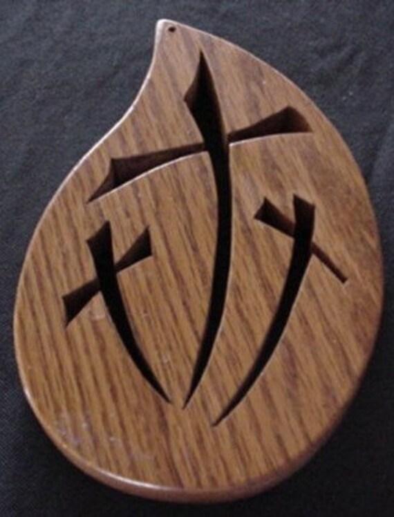 Cross w/3cross cut out (Black backing)