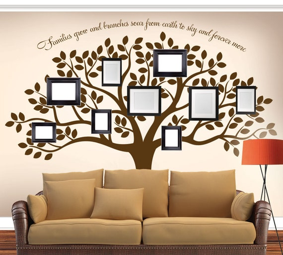 Family Tree Wall Decal Tree Wall Decal Photo Frame Wall