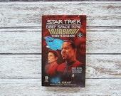 Star Trek Book, Star Trek Deep Space Nine Invasion Time's Enemy, Written By L.A. Graf, Book 3 of 4, Star Trek Book Series