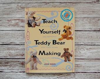 Teddy Bear Making Book, Full Size Teddy Bear Patterns, Teach Yourself Teddy Bear Making by Jodie Davis, Sewing Craft Books