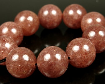 Russian Muscovite Round Beads - 12mm - 10 Pieces - B5695