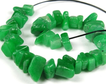"SALE - was 6.50 - Australian Chrysoprase Mini Chips - 14cm (5.5"") Strand Length - B4326"