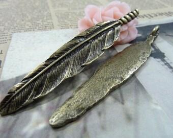 5pcs 13x81mm The Leaves  Antique Bronze Retro Pendant Charm For Jewelry Bracelet Necklace Charms Pendants C1593