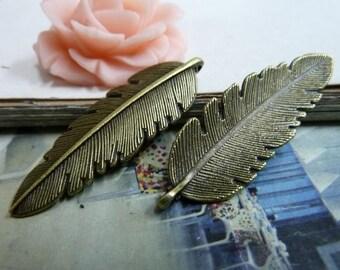 20pcs 14x43mm The Leaves Antique Bronze Retro Pendant Charm For Jewelry Bracelet Necklace Charms Pendants C2054