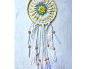 Yellow and Cream Shabby Dreamcatcher/Wall Hanging