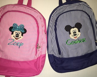 Personalized Toddler Backpack with Custom Minnie or Mickey Mouse Design / Donald or Daisy Duck or Custom Design of Choice