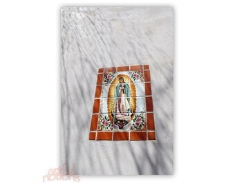 Our Lady of Guadalupe, Mexican Folk Art, Virgin of Guadalupe, Wall Art, Wall Print, Religious, Christian, Catholic, 8x12, 11x17, 16x24