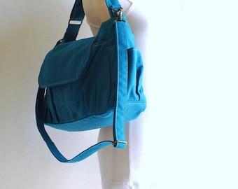 NEW YEAR SALE 30% - Mini Pico in Teal (Water Resistant) Kid / Shoulder Bag/ Messenger Bag/ Tote / Handbag / School Bag/ Travel Bag / Hobo Ba