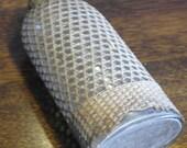 antique woven wicker glass flask bottle