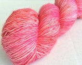 Flamingo Feathers - Moxie Sock Yarn: 100% Superwash Merino, Fingering Weight, Single Ply - In Stock