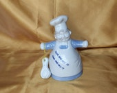 Chubby Chef / Baker Figural Dinner Bell - Come and Get It