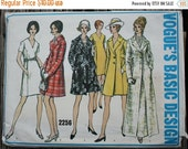 35%FallSale Vogue Basic Design 2256  1960s 60s Dress and Coat Duster Full Length Vintage Sewing Pattern Size12 Bust 34