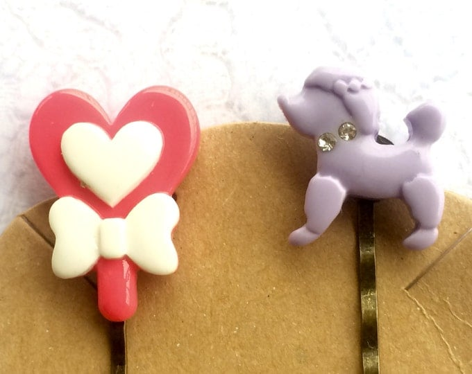 Hair Pins, Hair Clips, Hair Barrettes, Flower Hair Clips, Bobby Pins, Poodle Bobby Pin
