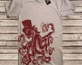 Octopus T Shirt / mens Shirt / American Apparel T-Shirt / Size & Color Options