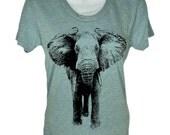 Elephant T Shirt / Womens Elephant T Shirt / American Apparel Shirt