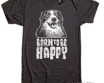 Mens Happy Dog Face T-Shirt - American Apparel Tee - S M L Xl 2X (9 Color Options)