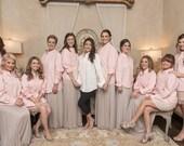 Bridesmaids Gifts Light Pink Oversized Mens Shirts ~ Monogrammed Light Pink Oversized Shirts ~ Monogrammed Light Pink Bridal Party Shirts ~