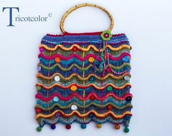 Sac en laine tricoté à la main