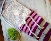 Violet purple vintage lace romper - photography prop - sitter size