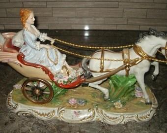 Dresden Porcelain Carriage