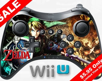 Wii U Zelda Link Controller Skin, the legend of Zelda breath of the wild Zelda Skin Zelda Decal Zelda Tri Force Zelda Hyrule Legends
