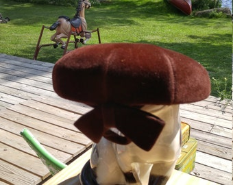 Antique Womens Lord & Taylor Fascinator,, Zephyr Made in FRANCE, Brown Velvet Bow