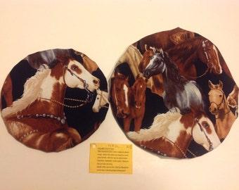 SALE 2 Horses Reusable Eco Friendly Bowl Covers
