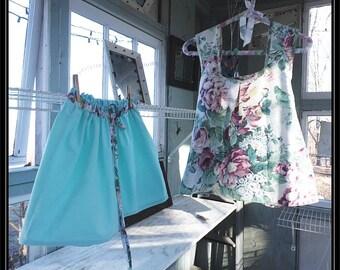 Free shipping in US-Large-Margaret-Short Set-Womens Pajamas,tap pants,pj bottoms,pajama bottoms,handmade, vintage fabric