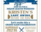 Baseball Bachelorette Party Digital Invitation - Printable - Digital - Wedding - Bachelorette - Chicago Cubs