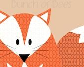 "Nursery / Kids Prints - Woodland.  Fox ""Headshot"""