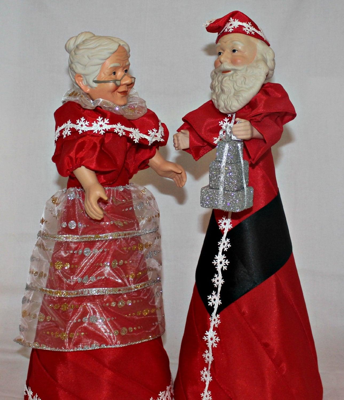 Christmas Tree Toppers Santa: Santa Claus Mrs. Claus Santa Tree Topper Santa By BeezDream