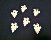 50 White GHOST Hand punched die cuts, paper punches  ,HALLOWEEN, scrap booking, fall craft supplies
