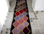 Burgundy Purple and Black Kilim rug,Handmade Turkish kilim rug, area rug, kilim rug, kelim rug, Crochet rug, bohemian rug, Turkish rug, rugs