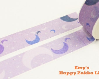 Purple Moon - Japanese Washi Masking Tape - 11 yards