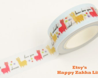 Alpaca - Japanese Washi Masking Tape - 11 yards