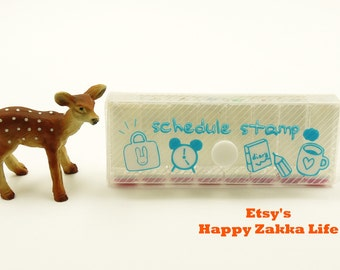 Mini Diary Schedule Stamp Set - Weather -  8 Pcs