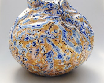 Sunny beach vase. Polymer clay vase. Vase for home  decoration. Unique vase. Handmade vase.