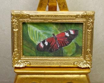 Red & Black Butterfly:  Watercolor Print by Marie Haeffner-Reeves